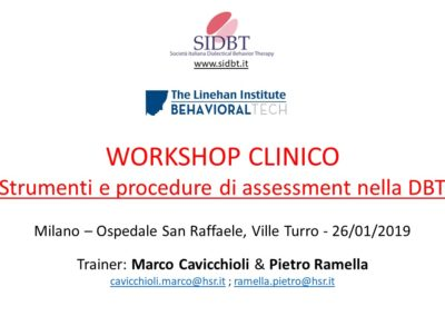Workshop DBT ASSESSMENT